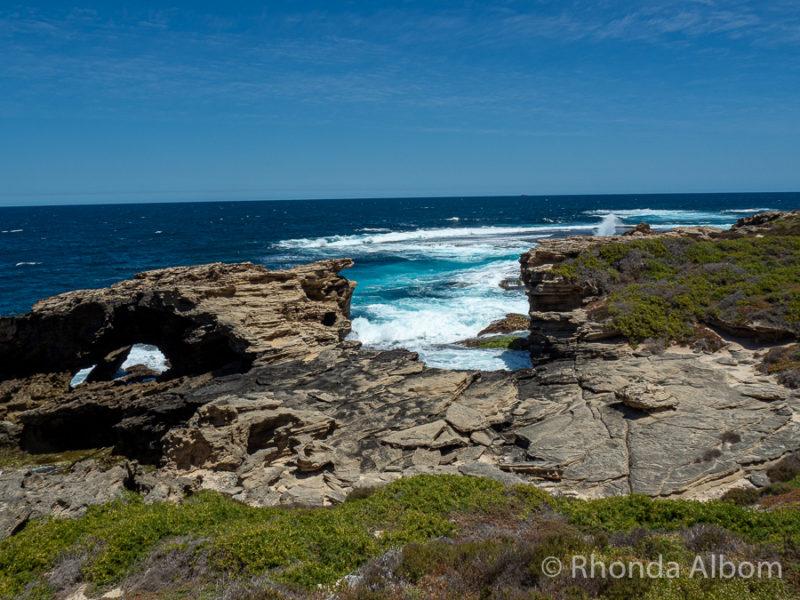 Stunning rocky coastal views at Cape Vlamingh on the west end of Rottnest Island, Western Australia