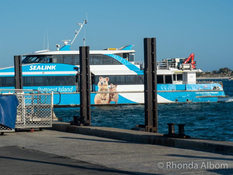 Quokka 1 ferry from Sealink at Rottnest Island, Western Australia