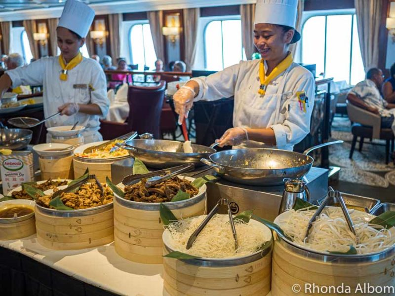 A special buffet on the Azamara Quest where I was unsuccessfully cruising with food allergies
