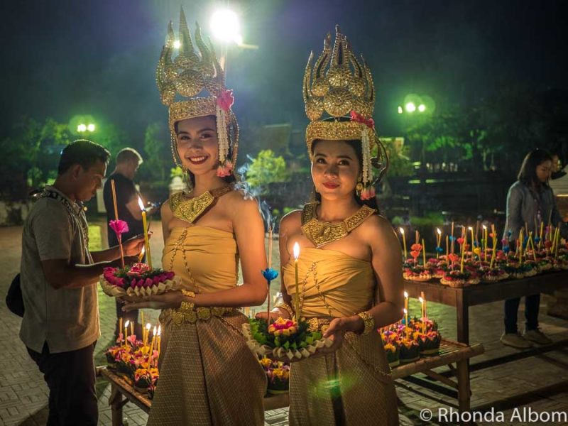 A Loy Krathong Festival at Ancient Siam is one of the special things to do at night in Bangkok