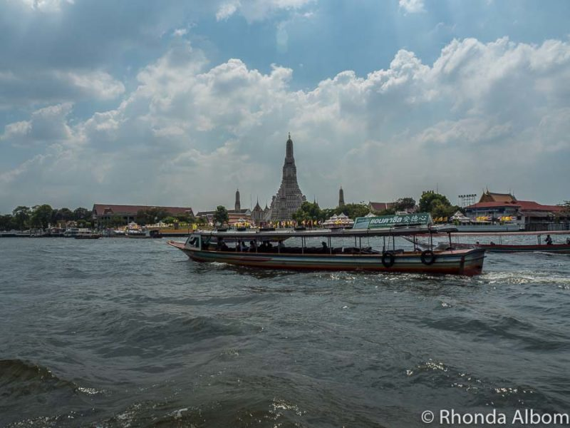 ferry crossing the Chao Phraya River