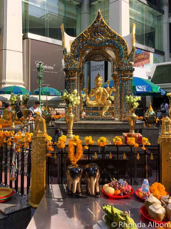 Four headed buddha at the Erawan Shrine, Bangkok, Thailand