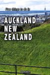 View of downtown Auckland New Zealand from the top of Mt Eden