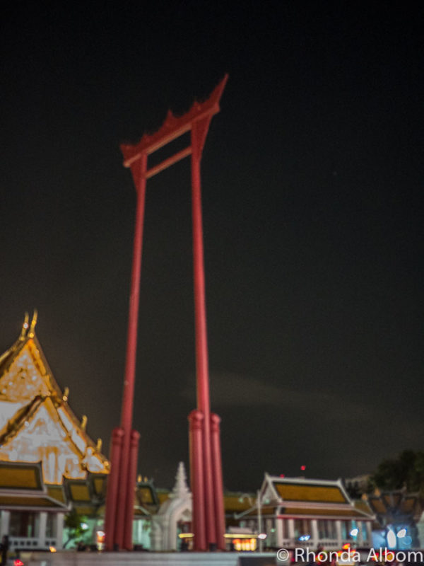 All the remains of the Giant Swing (Sao Chingcha) in Bangkok, Thailand is the frame