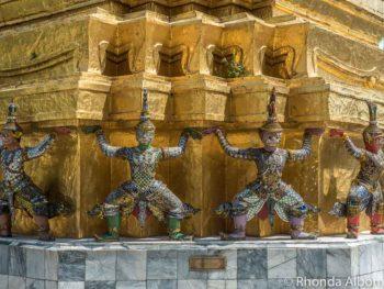 Stupa outside library at the Grand Palace in Bangkok, Thailand.