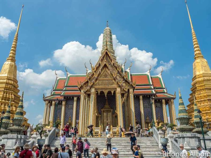 The Royal Pantheon with its golden stupa is one of the best places to visit in Bangkok, Thailand.