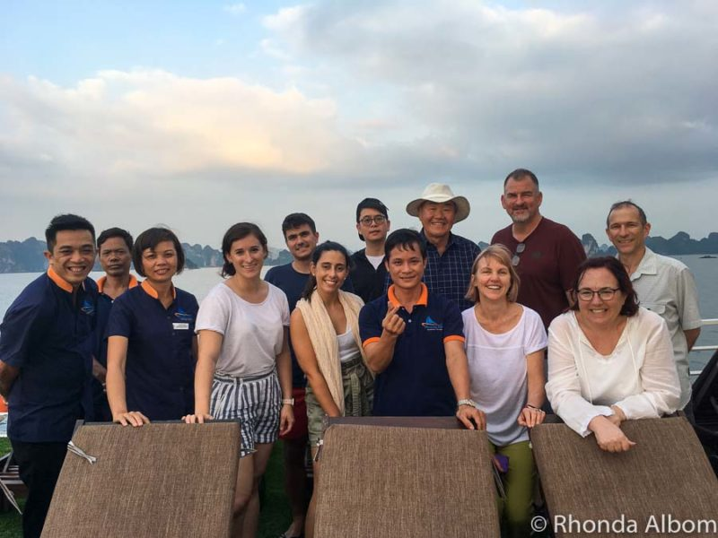 Small group boat tour on Amazing Sails in Vietnam