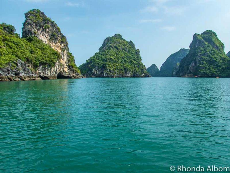 Beautiful Halong Bay Vietnam, seen from a Halong bay day trip