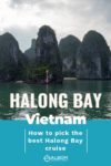 View of Karst formations in Halong Bay Vietnam while on a luxury cruise