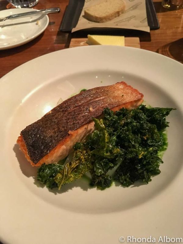 Salmon at Gordon Ramsay's Bread Street Kitchen in Singapore