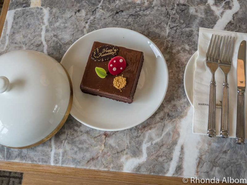 Special chocolate cake for our anniversary