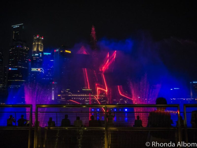 Spectra is Marina Bay Sands laser show that is free every night