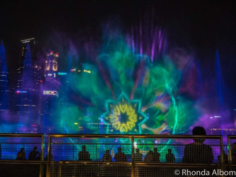 Spectra is Marina Bay Sands light show over the water