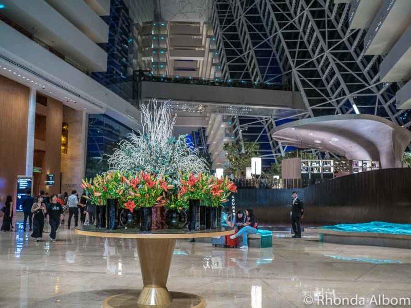 Lobby area of Marina Bay Sands Hotel in Singapore