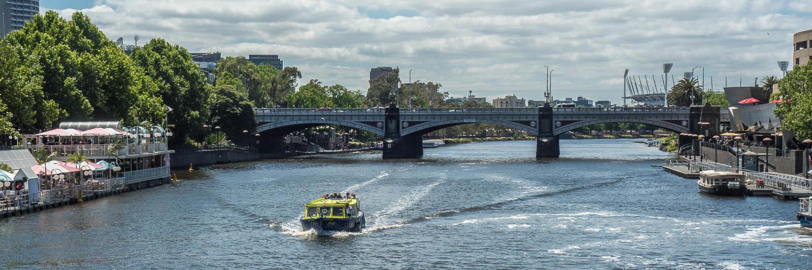 Yarra River in Melbourne, Australia.