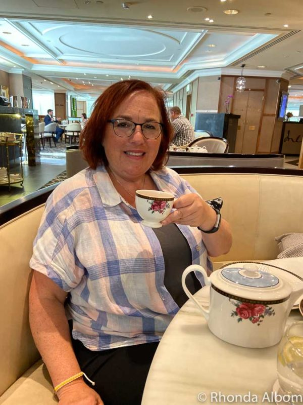 Enjoying Afternoon Tea at the Wedgwood Langham in Melbourne