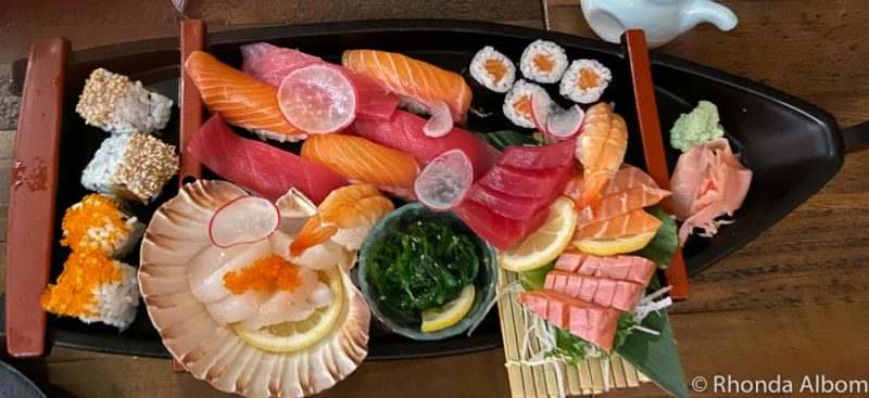 Sushi boat at Koikoi Restaurant in Australia
