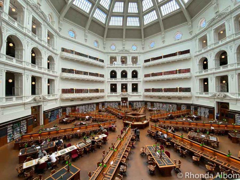 La Trobe reading room in the State Library Victoria in Australia