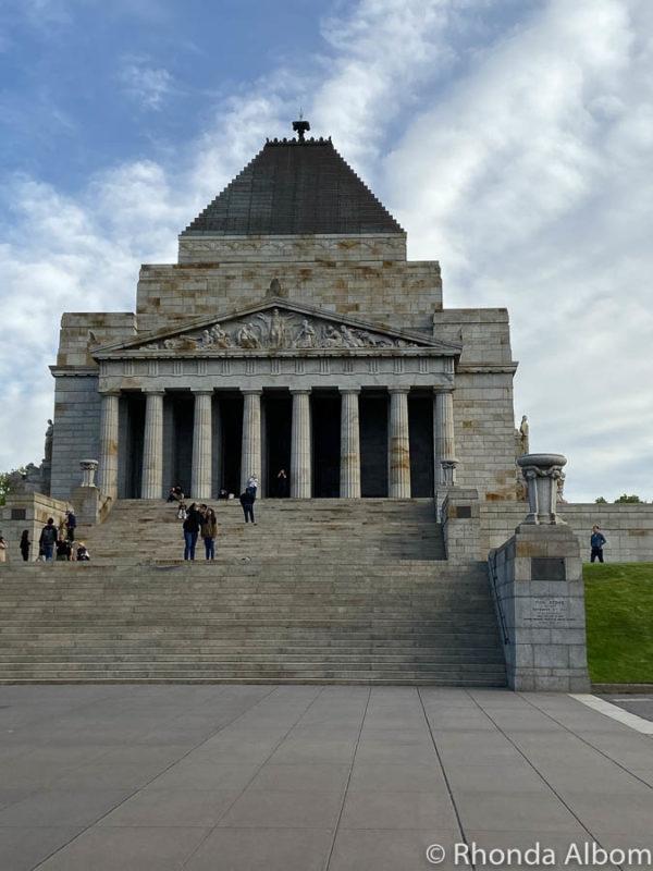Shrine of Remembrance in Melbourne Australian