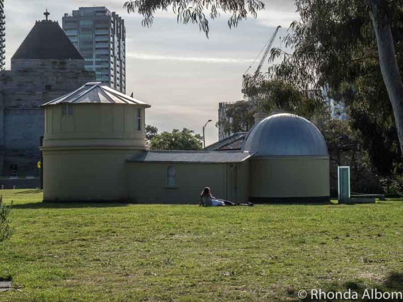Original observatory at Royal Botanic Gardens in Melbourne, Australia