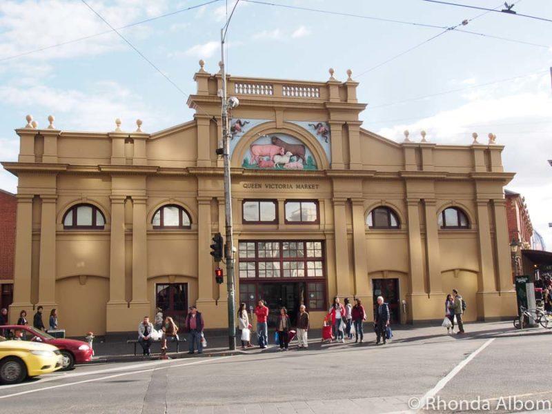 Outside of Queen Victoria Market  in Melbourne, Australia