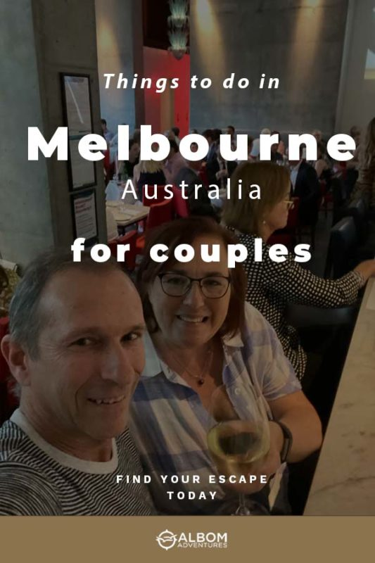 Rhonda and Jeff having a drink at Di Stasio Citta in Melbourne Australia