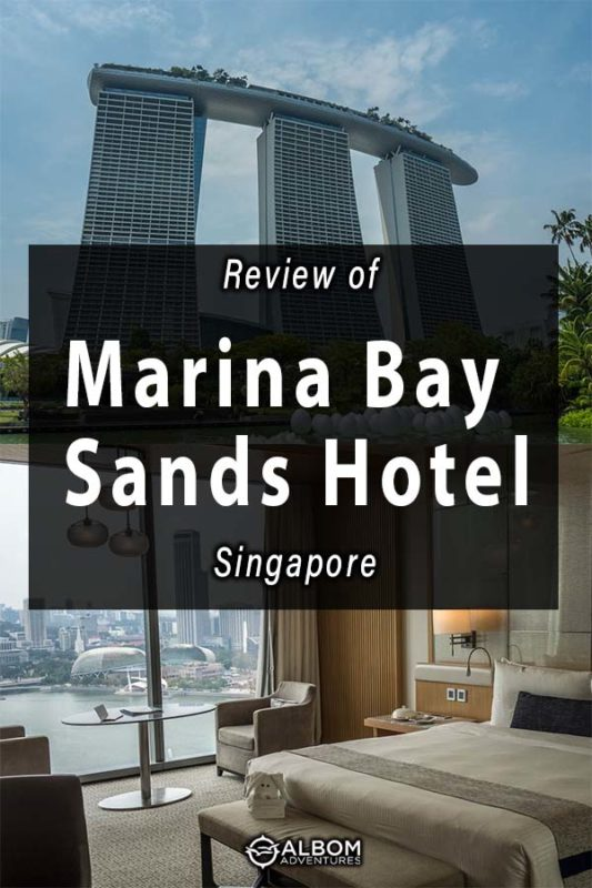 The rooms in Marina Bay Sands Hotel offer floor to ceiling windows with incredible views of Singapore.
