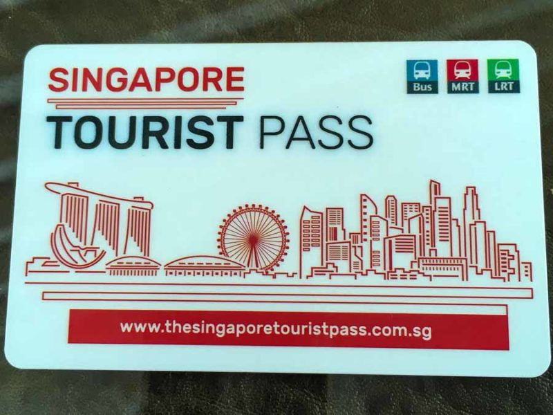 Our Singapore MRT Tourist pass which saved us money on transportation duiring our Singapore vacations