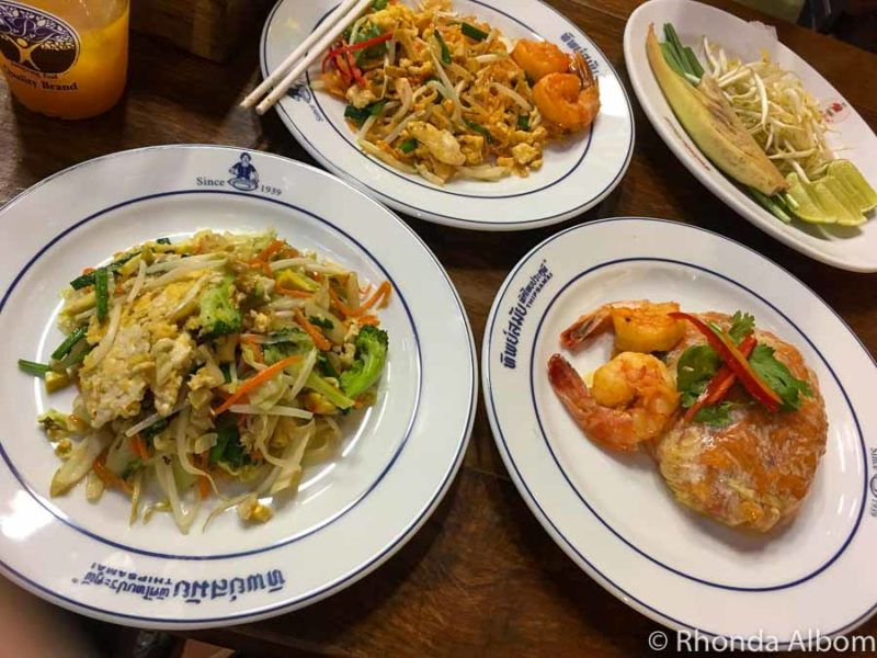 Pad Thai from Thipsamai is one fo the best things to eat in Bangkok Thailand