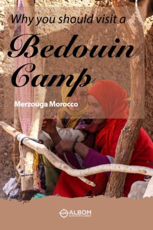 Bedouin women weaving a rug in Merzouga Morocco