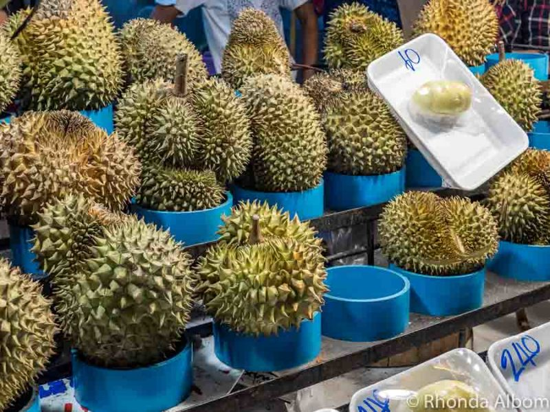 Durian fruit for sale in Chinatown, Bangkok