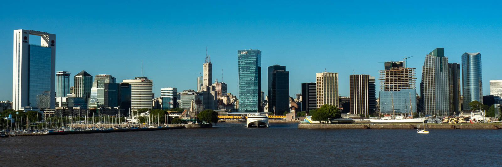 Skyline of Buenos Aires seen from the water