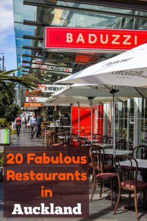 A row of restaurants on the street in Wynyard Quarter, Auckland New Zealand