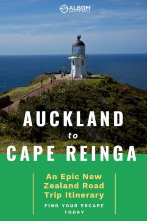 View of Cape Reinga lighthouse in Northland on the North Island of New Zealand