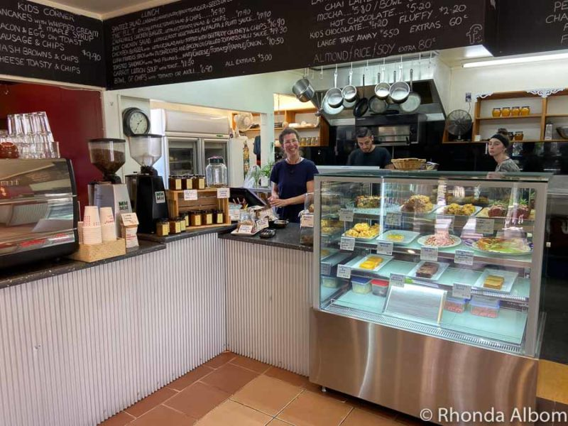 A counter filled with gluten-free foods at Santeez in Kerikeri, New Zealand