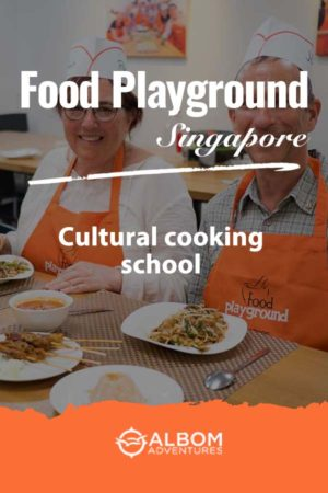 A full meal ready to eat prepared and Food Playground cultural cooking school in SIngapore
