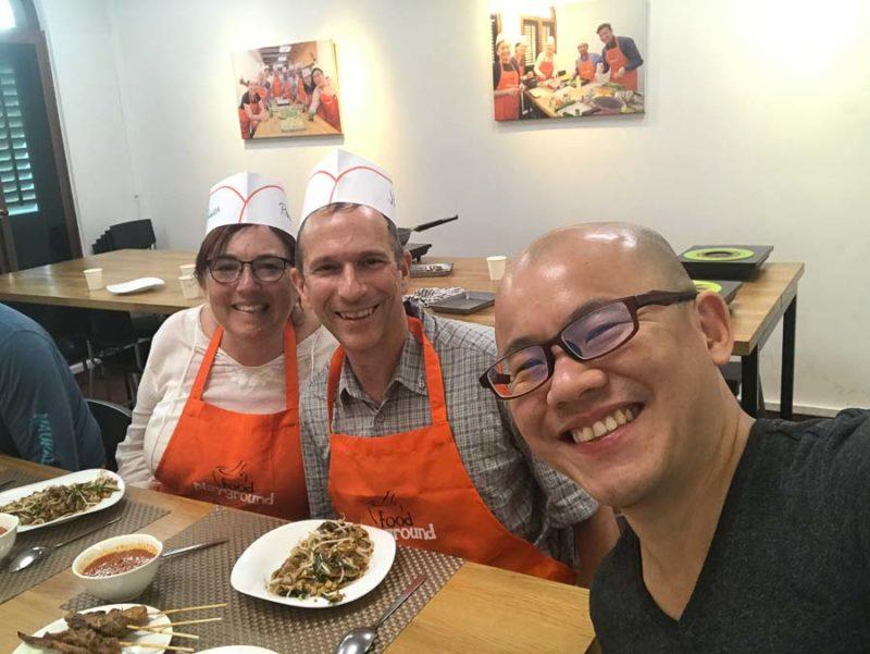 Jeff and Rhonda Albom with Food Playground owner Daniel Tan