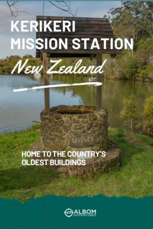Wishing well on the grounds of the Kerikeri Mission Station New Zealand
