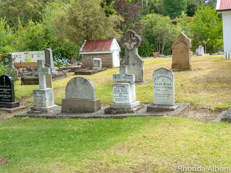 Cemetery at St James Anglican Church, Kerikeri, Bay of Islands, New Zealand