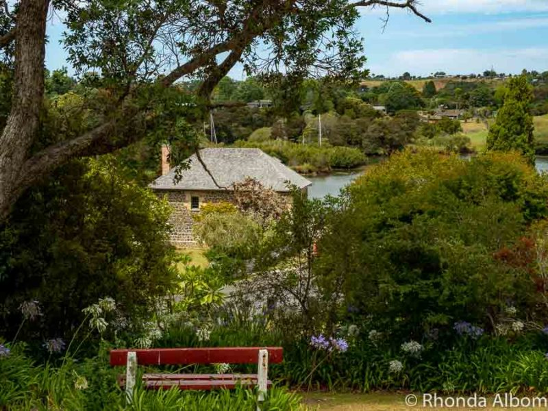 View of stone store from the hill which houses St James Anglican Church, Kerikeri, Bay of Islands, New Zealand