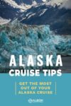 View of Hubbard Glacier Alaska USA from a cruise ship