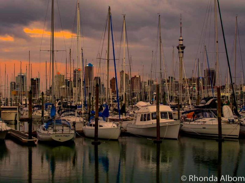 Watching the sunset is one of the best free things to do in Auckland at night.