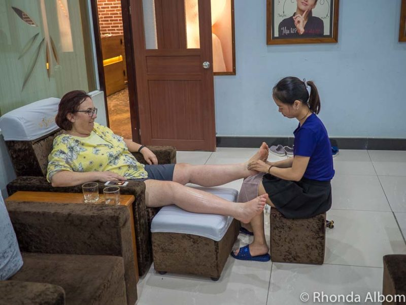 Relaxing with a foot massage is one of many things to do in Da Nang Vietnam