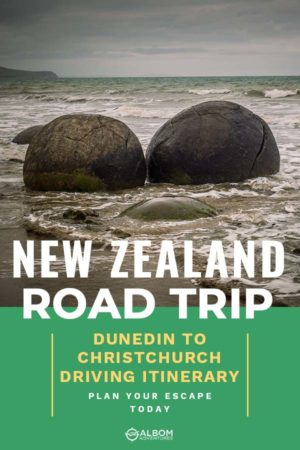 Moeraki boulders on the beach of the South Island New Zealand
