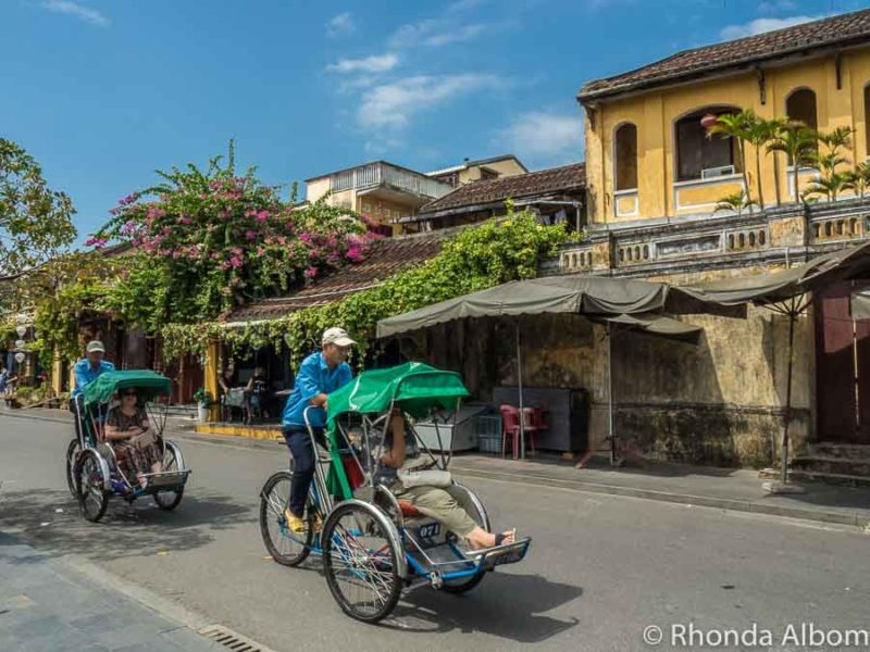 Pedal taxi along river, on of the things to do in Hoi An, Vietnam