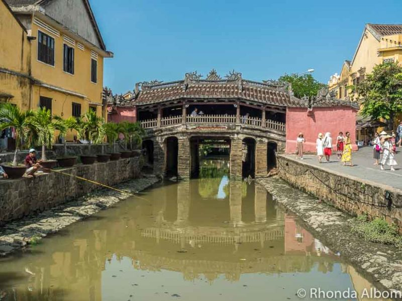 Japanese covered bridge is a must see in Hoi An Vietnam