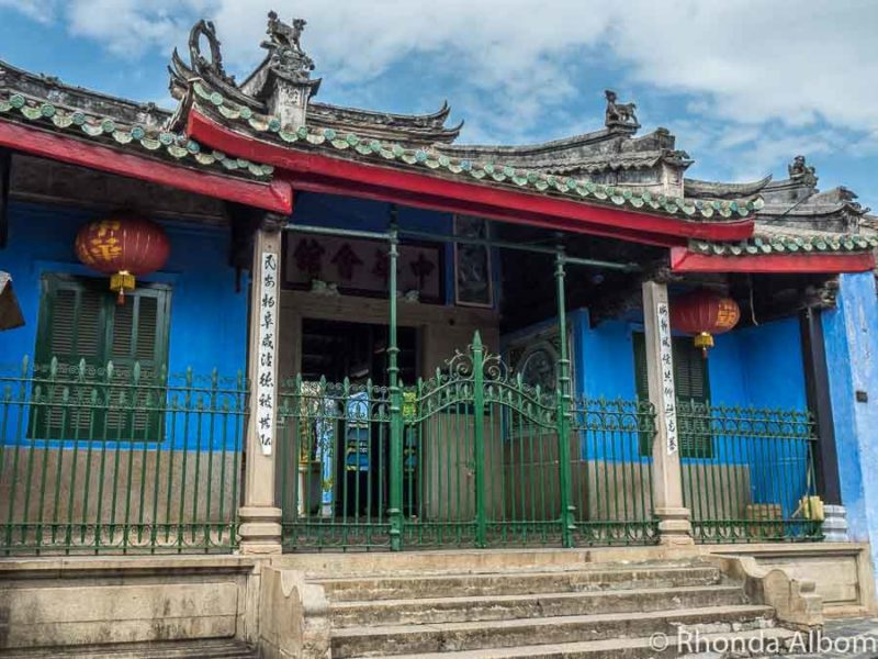Hoa Van Le Nghia, the Blue Chinese Temple in the ancient town Hoi An, Vietnam