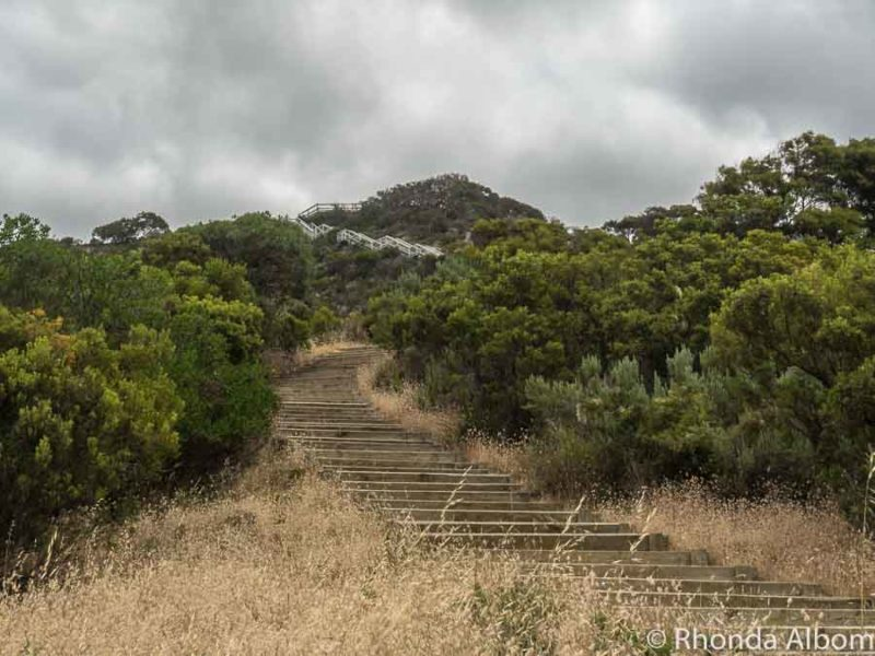 The start of 500 steps leading to the top of Prospect Hill on Kangaroo Island South Australia