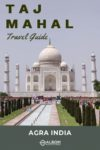 A view of the Taj Mahal in Agra India