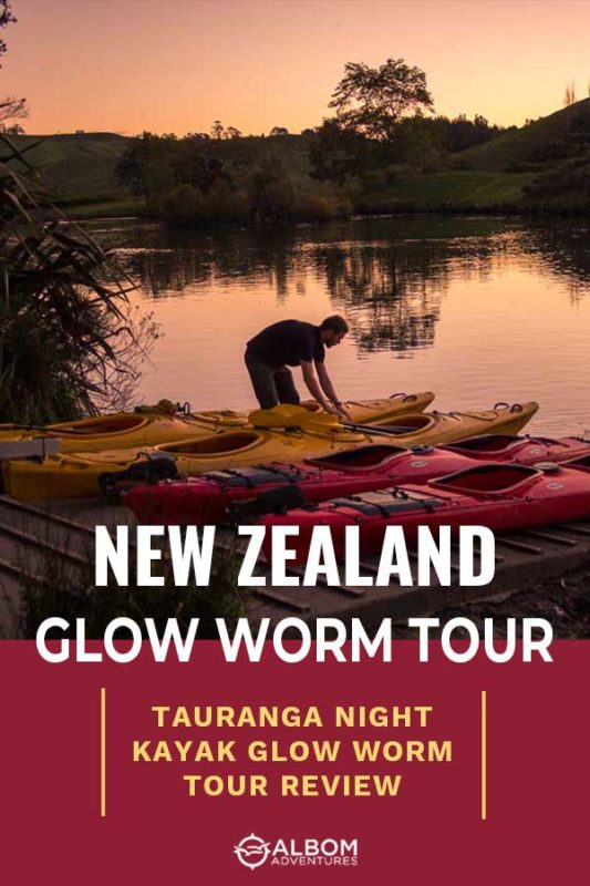 Setting up the kayaks for a Waimarino glow worm tour